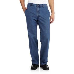 Pantalón Mezclilla, No Son Jeans Talla 54 X 30 Con Resorte.