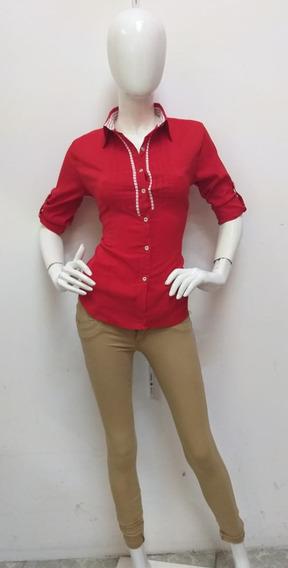 Pantalon De Gabardina De Dama