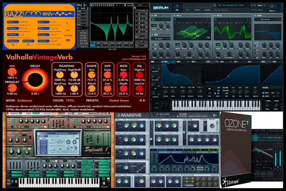 Ableton Live + Serum + Waves + Sylenth + Izotope 7 + Samples