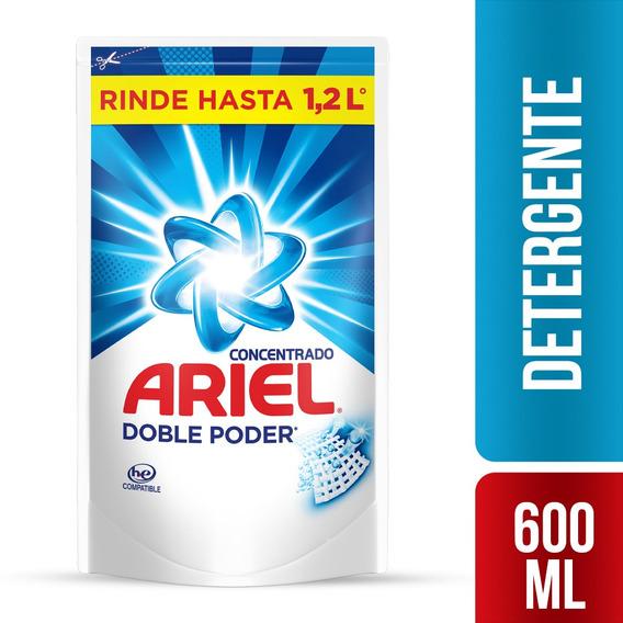 Detergente Liquido Concentrado Ariel Doble Poder 600ml