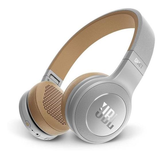 Fone De Ouvido Jbl Duet On Ear Com Bluetooth - Prata