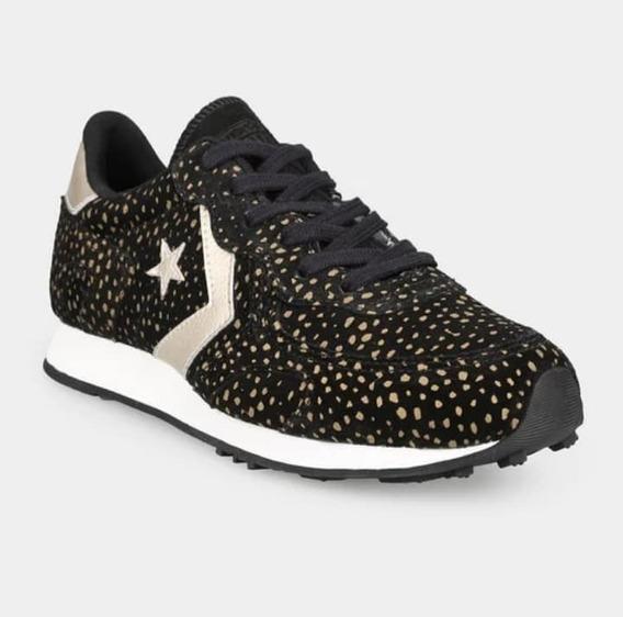 Zapatillas Mujer Converse Thunderbolt Cheetah Negro Y Dorado