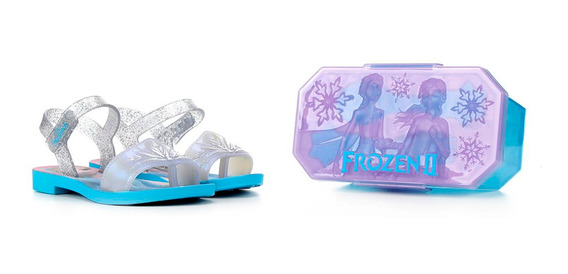 Sandália Infantil Grendene Frozen Magic Snow Feminina Prata