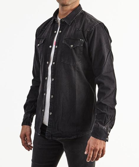 Camisa A+ Refans Hombre Jean Gris