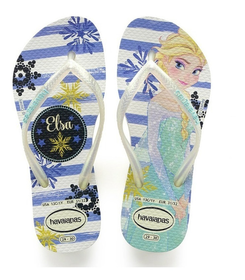 Havaianas Kids Slim Frozen Branco/royal