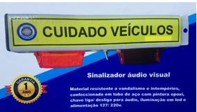 Sinalizador De Garagem Condomínio Com Led Sinaleira Audio Vi