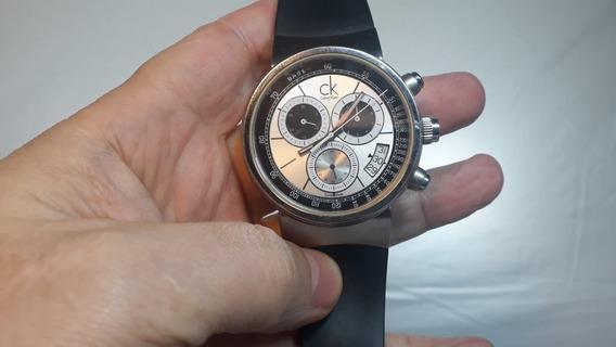 Relógio Calvin Klein Vidro Safira, Caixa De Aço, Certificado