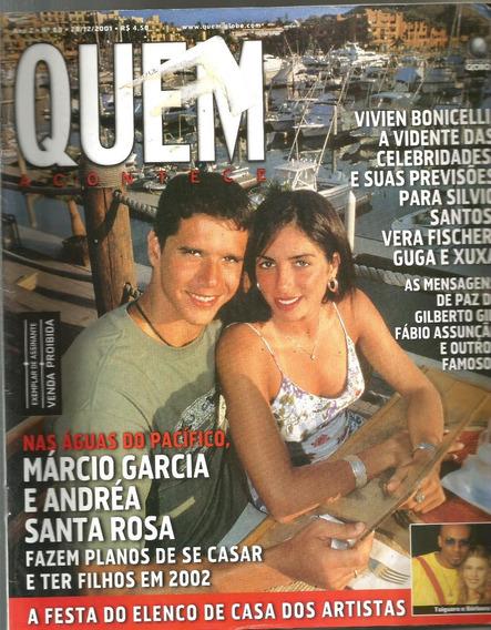 Revista Quem 68/2001 - Marcio Garcia - Monique - Rita Lee