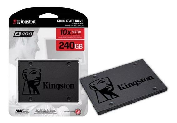 Hd Ssd Kingston 240gb Pc Notebook Lacrado A400 Original Novo