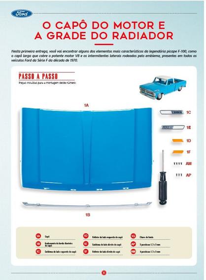 Picape Ford F-100: Fascículo + Peças - Ed. 01 - Escala 1/8