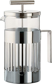 Alessi 9094/8 Press Filter Coffee Maker, Plata