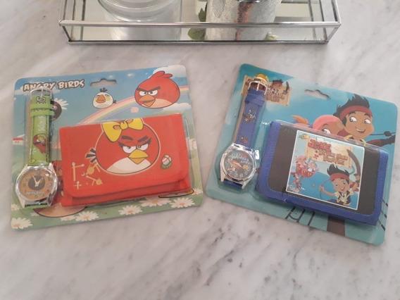 Set Billetera Y Reloj Angry Birds Niño Nuevo