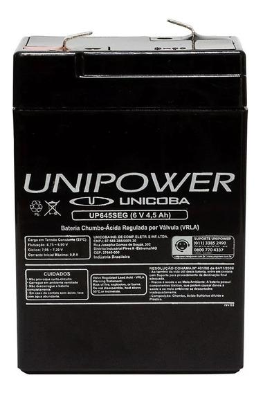 Bateria Unipower 6v 4,5ah Up645seg Moto Elétrica, Brinquedos