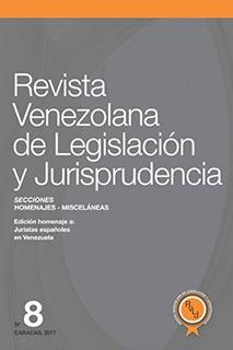 Libro : Revista Venezolana De Legislacion Y Jurisprud (3210)