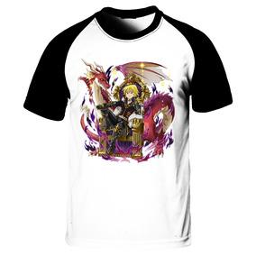 Camiseta Raglan Nanatsu No Taisai Meliodas E O Pecado Da Ira