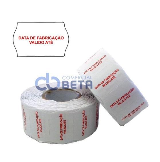 20 Rolos Etiqueta Data E Validade Mx 2616mm P/ Etiquetadora