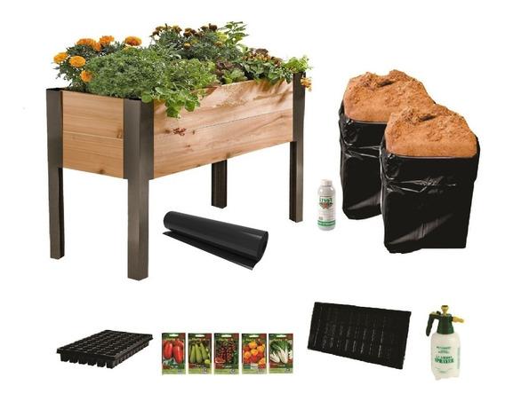 Mesa De Cultivo Kit Completo Para Huerto De 90x120x40 Cm