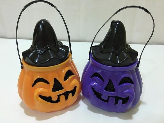 Calabaza Caramelera Con Tapa Halloween Cotillon Chirimbolos