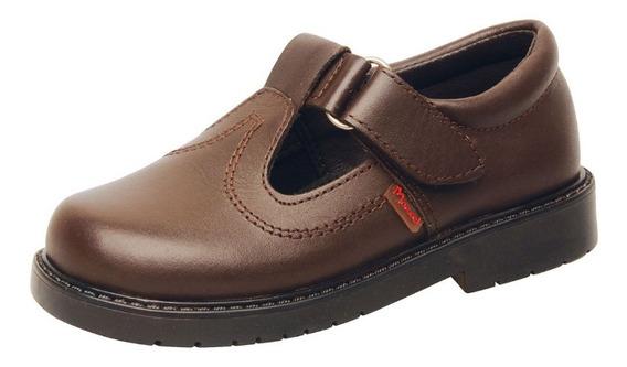 Zapatos Colegial Marcel Cuero Marrón Ó Negros Guillermina