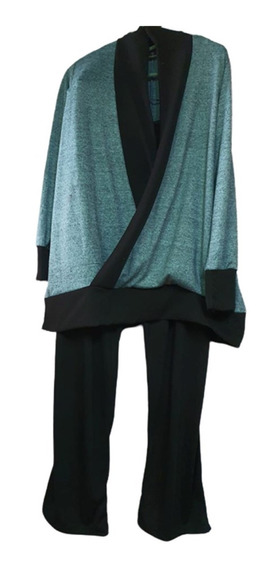 Conjunto De Remeron Lanilla Cruzado, Con Pantalon De Modal