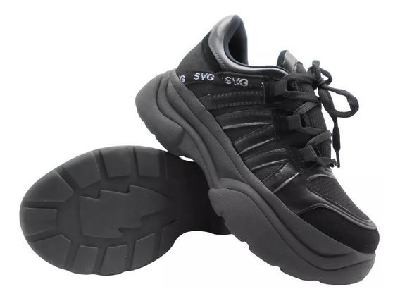 Savage Tr-10 Zapatilla Dama Mujer Sneaker Plataforma 35-40