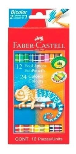 Imagen 1 de 1 de Lapiz Color Faber Castell X 12 Bicolor =24