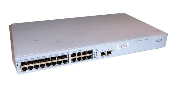 3com Superstack3 Switch 4226t 24 Port+2 - 3c17300 10/100/1g - Usado Y Limpio!