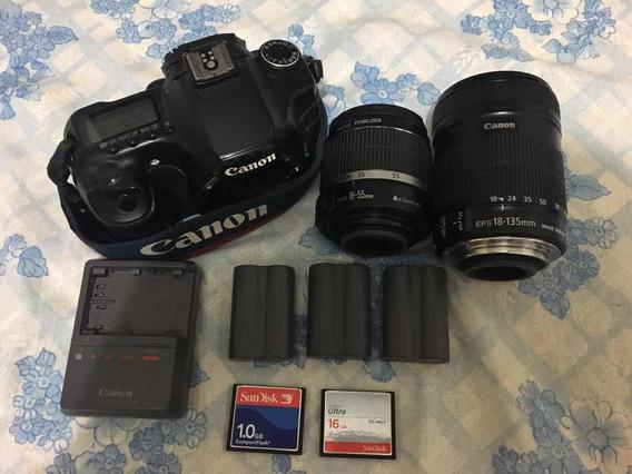 Câmera Fotográfica Canon 40d E Lentes 18-55mm E 18-135mm
