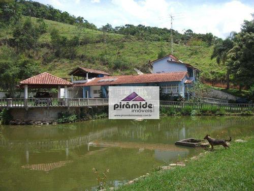 Sítio Com 3 Dormitórios À Venda, 81000 M² Por R$ 750.000,00 - São Benedito - Monteiro Lobato/sp - Si0008