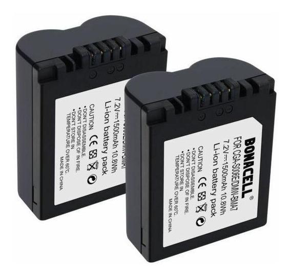 Paquete De 2 Baterías Cga-s006e / Dmw-bma7 De 1500 Mah