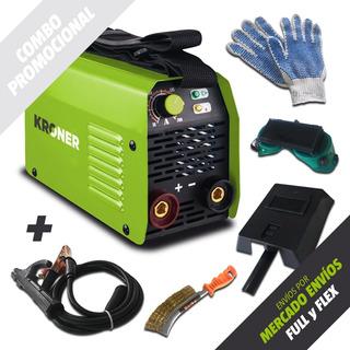 Soldadora Inverter Kroner 100 Amp-reales 220 Volts + Kit Promo