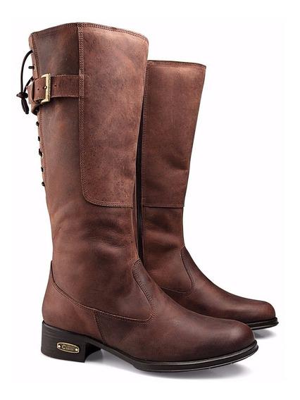 Bota Montaria Feminina Couro Cano Alto Country Capelli Boots