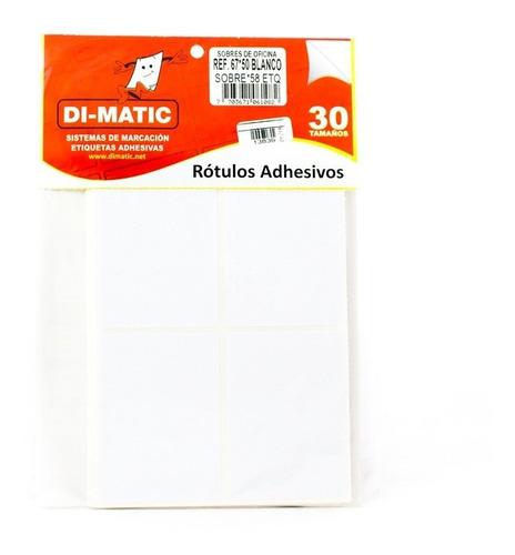 Imagen 1 de 1 de Rotulo Adhesivo Blanco 6750 Dimatic