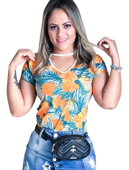 Roupa Feminina Chocker T -shirt Verão 2018