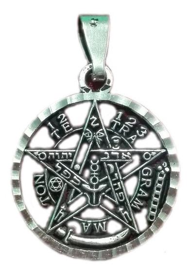 Dije Tetragramaton De Plata Sólida 925
