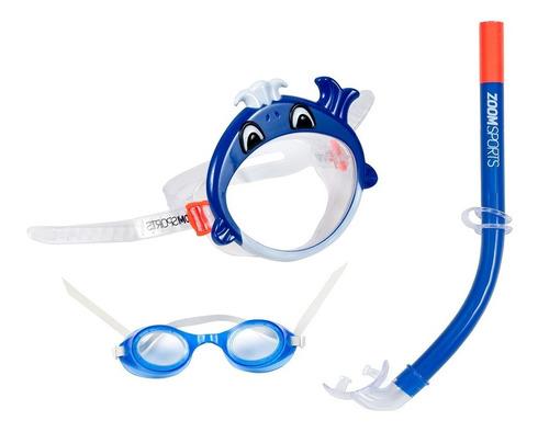 Gafas Natación Zoom Sports Set Fun Azul