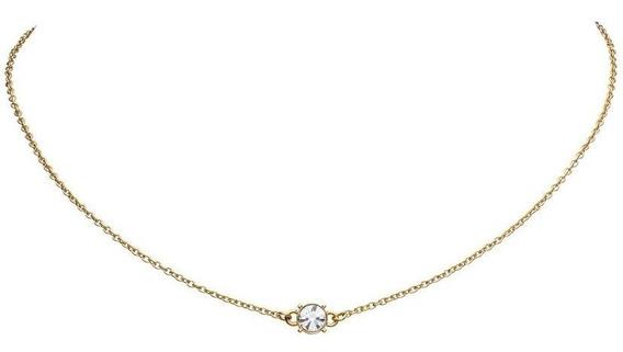 Collar Con Dije Diamond Plata .925 Chapada En Oro 18k