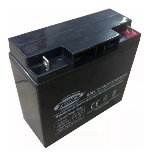Bateria De Gel Recargable Zurich 12v 17a Grupo Electrogeno