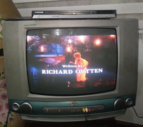 Imagen 1 de 5 de Televisor Tv  LG 21  Combo Dvd Samsung. Estado 8 De 10