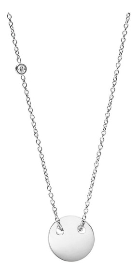 Collar Dama Fossil Classics Jf02565040 Color Plateado