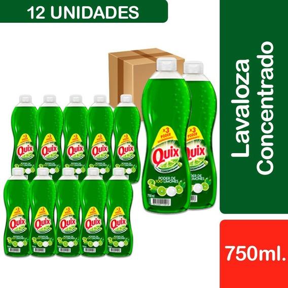 12 Lavalozas Quix Concentrado Limón 750 Ml
