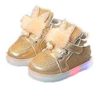 Sapato Tênis Menina Infantil Pisca Pisca Importado Estiloso