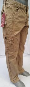 Pantalón Recto Tipo Cargo De Gabardina Para Hombre
