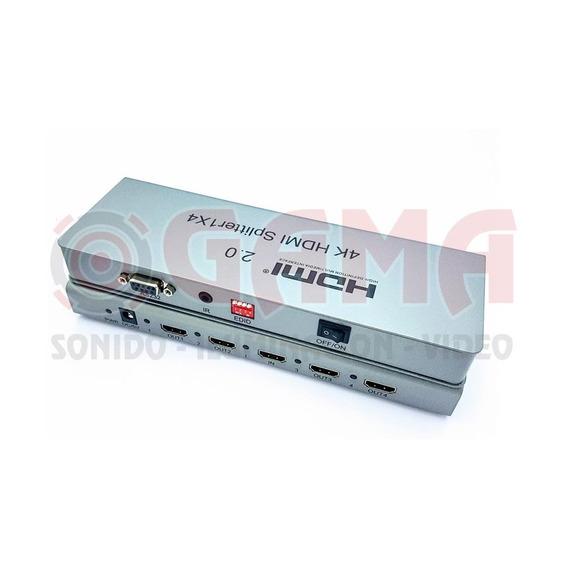 Splitter Repartidor 1 Jack Hdmi A 4 Jack Hdmi 4k 1080p,1080i