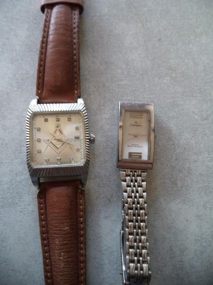 Relógios ( 2) Um Feminino Outro Masculino Personaliz Maçom