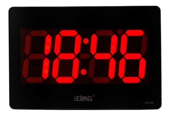 Relógio Parede Mesa Led Digital Calendário Termômetro Alarme