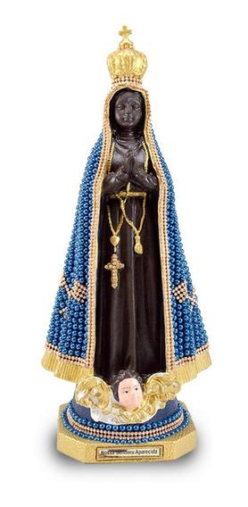 Imagem De Nossa Senhora Aparecida De Borracha 39cm Perola