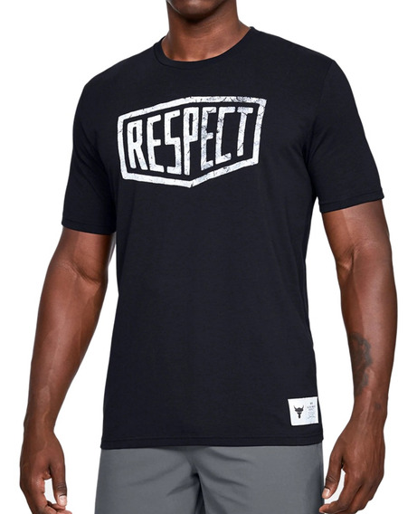 Remera Under Armour Project Rock Graphic Respect Hombre Ng