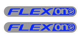 Honda Flex One - Par De Adesivos Metalizados - Frete Grátis