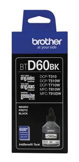 Tinta Brother Btd60bk Negro Original Dcp T310 T510 T710w